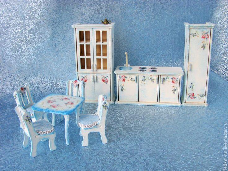 Купить Кукольная Кухня в кукольный домик - кукольная мебель, мебель для кукол, кукольный домик, домик