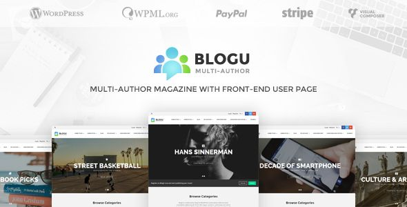 Finally a Multi-Author Magazine & Blog with a Front-End User Dashboard… ideal for launching all kind of Magazine (music, sports, technology, lifestyle, fashion and more…)    with BlogU your users c...