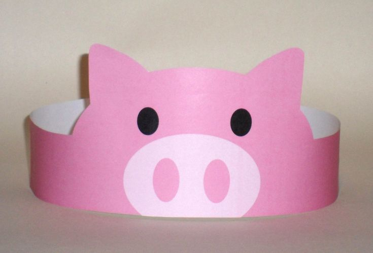 Create your own Pig Crown! Print, cut & glue your pig crown together & adjust to fit anyones head! • A .pdf file available for instant download to you once payment has been received. • This listing is for a digital file. No printed materials will be shipped. You may print as many as you wish at home. Print file at actual size, do not scale when printing. SUPPLIES YOU WILL NEED: • Cardstock or standard paper - 8.5 x 11/Letter Size • Scissors • Glue or Tape • Optional: Glitter, Rhinestones…