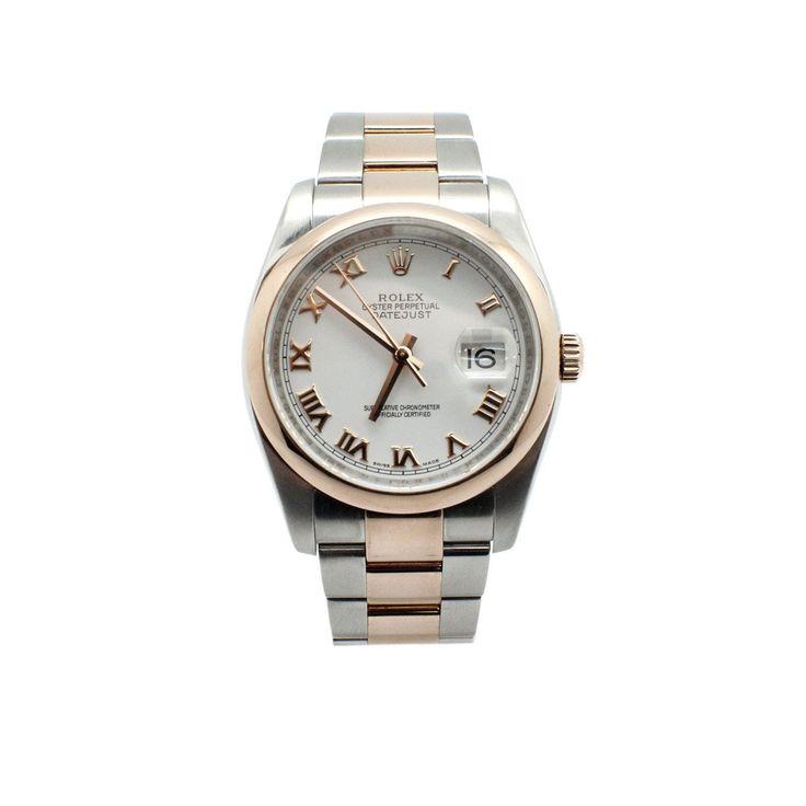 18 Karat Rose Gold and Stainless Steel Rolex Datejust Watch 116231
