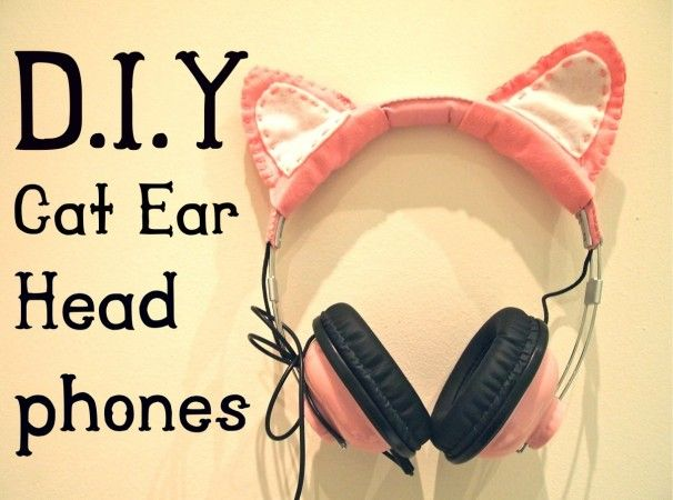 DIY cat ear head phones