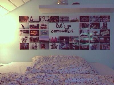 Wand dekorieren mit Bildern