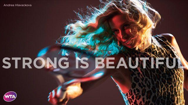 Strong Is Beautiful: Andrea Hlavackova #WTA #Hlavackova