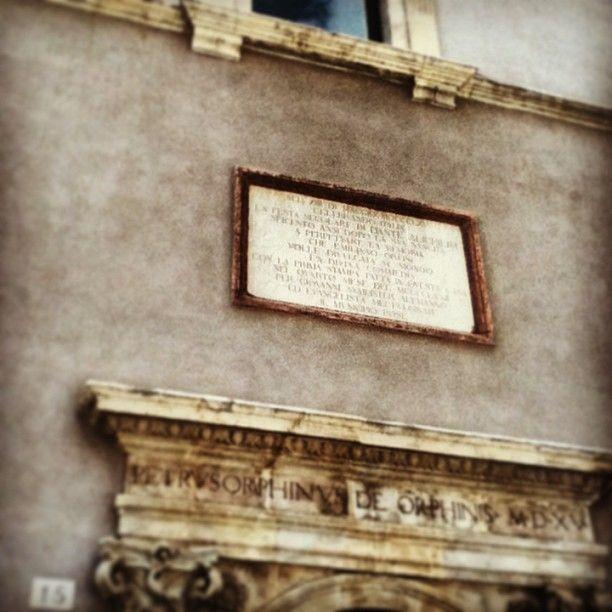 Qui venne stampata la prima copia della divina commedia #italy #foligno