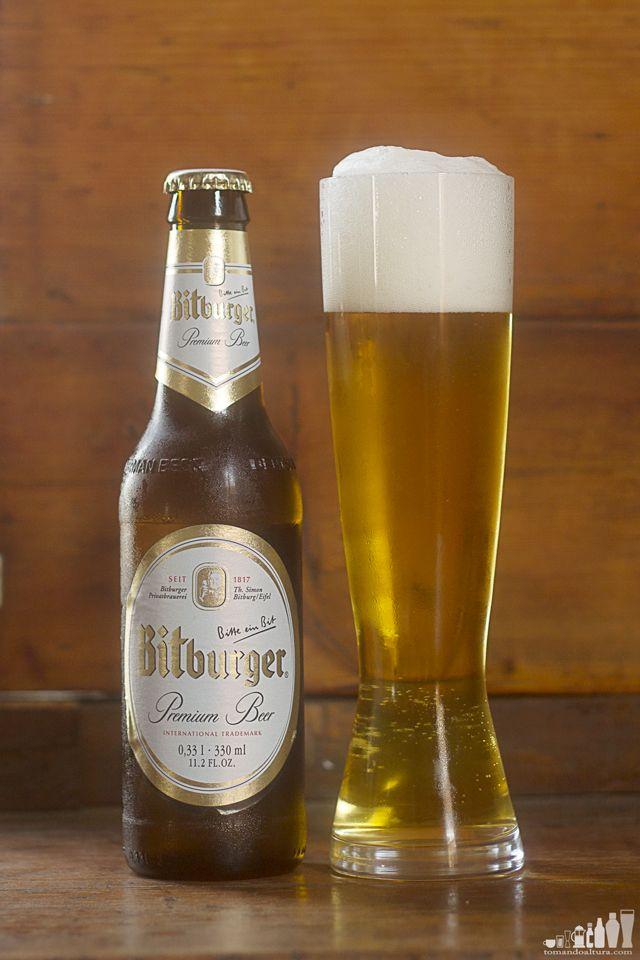 cervezas alemanas: Pilsner de Bitburger.