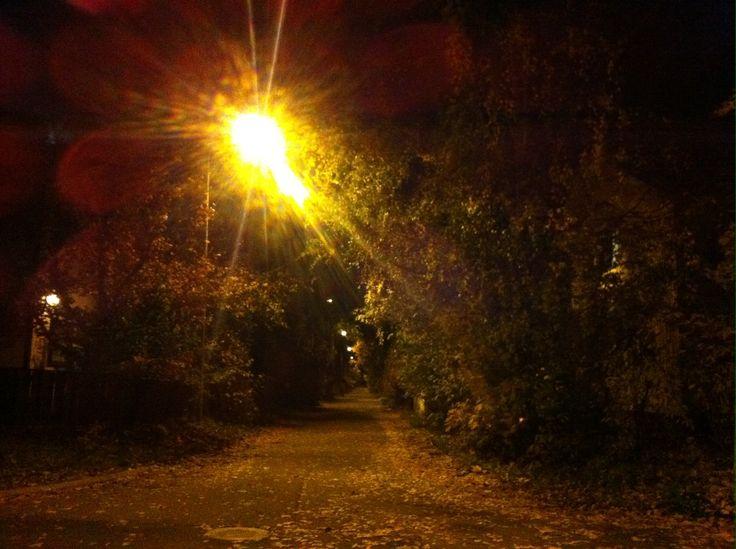 Street view in Puistola, Helsinki. September 2013.