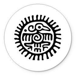 Ацтекские узоры - птица