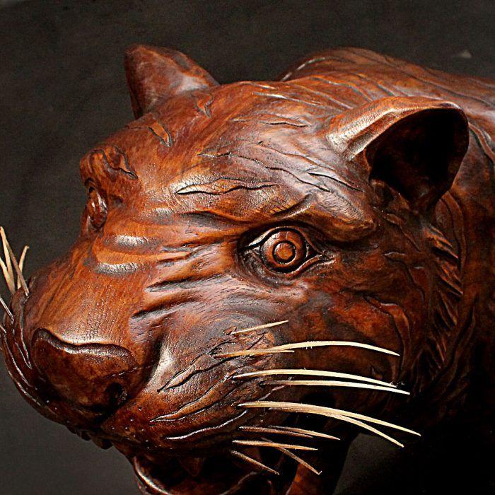 Tiger Wood Sculpture