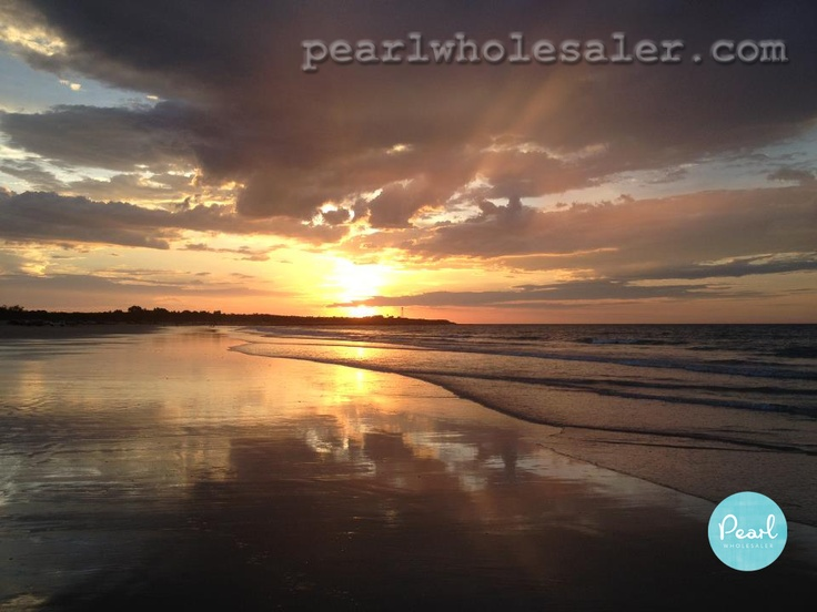 """Broome Western Australia - """"If beauty attracts beauty"""" then it is no wonder Broome makes the best pearls especially with sunsets like this"""