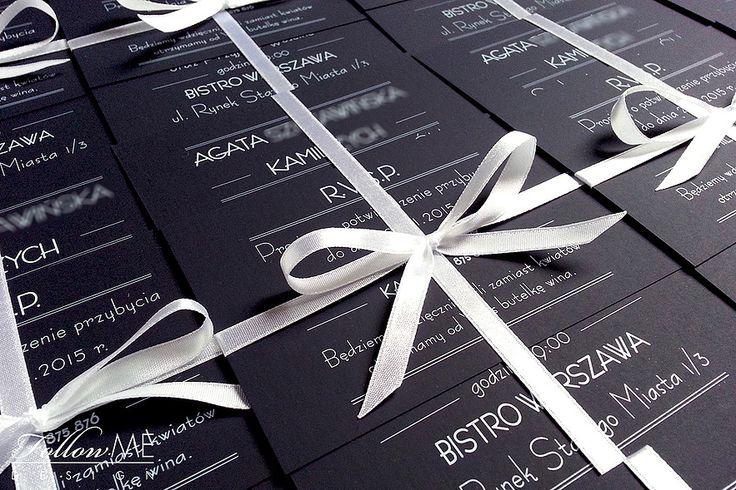 Zaproszenia ślubne / Zimowe dekoracje ślubne od FollowMe DESIGN / Wedding Invitations / Winter Wedding Decorations & Details by FollowMe DESIGN