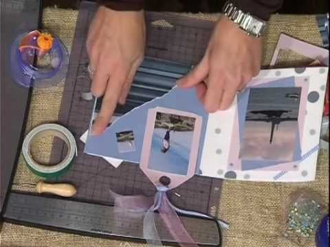 Scrapbooking tutorials: mini album delle vacanze part 2 - YouTube