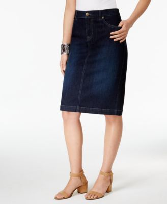027ee3e70f Style & Co Denim Skirt, Created for Macy's   DW To Get Style   Denim ...