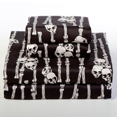 Voodoo Bones Sheet Sets: I hate the culturally appropriative name, but I do love the actual pattern