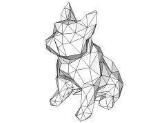 Animal Paper Model - Bulldog Ver.2 Free Papercraft Download