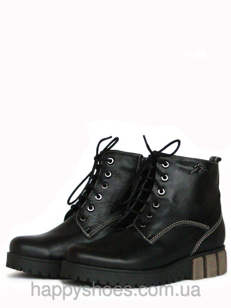 Зимние ботинки женские на низком ходу, фото 1