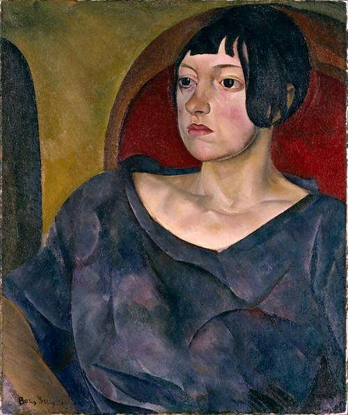 Борис Григорьев «Портрет женщины» 1930 г.