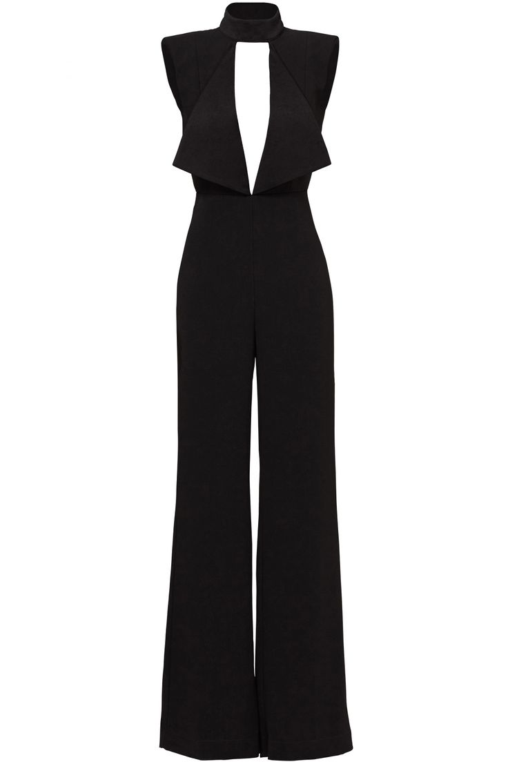 Rent Black Open Neck Jumpsuit by Misha Collection for $70 only at Rent the Runway.
