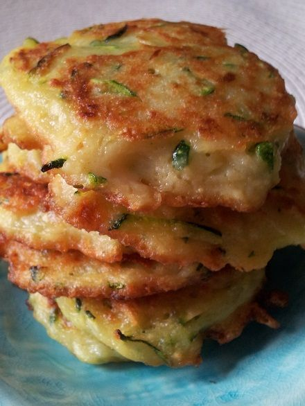 Polish potato cakes with zucchini