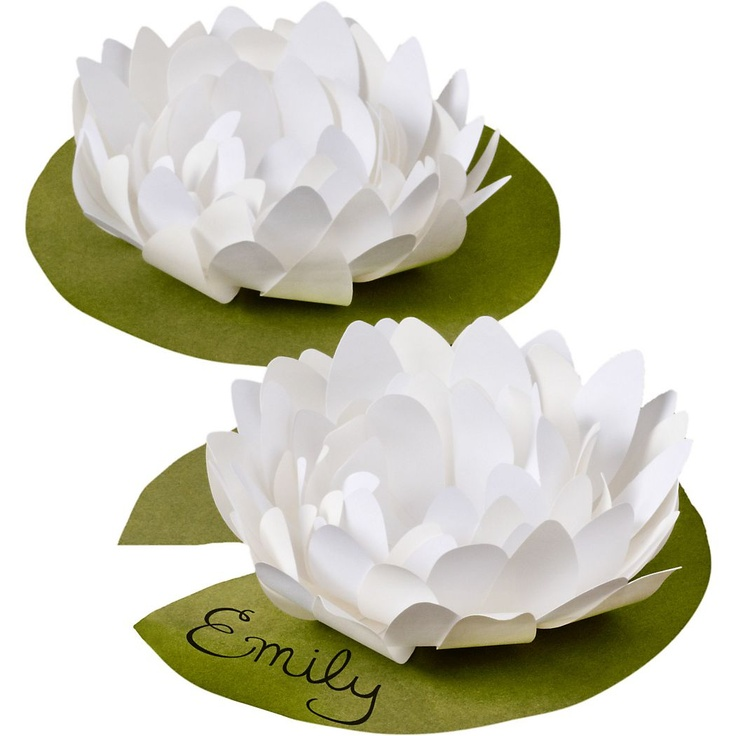 Lotus Flower place cards (kit) by Paper Source. #wedding #placecard