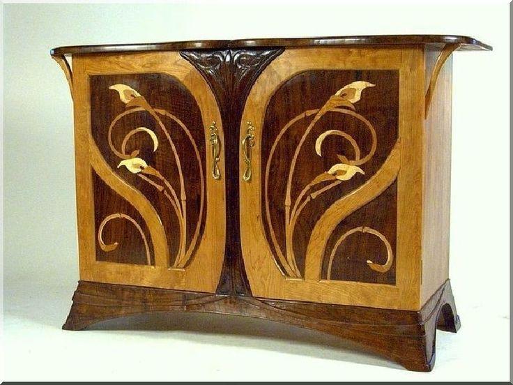 Szecessziós bútorok - Antik bútor, egyedi natúr fa és loft designbútor, kerti fa termékek, akácfa oszlop, akác rönk, deszka, palló