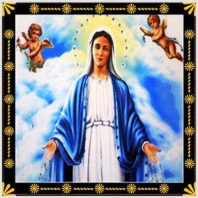 N. S. das Graças - Quadrinhos confeccionados em Azulejo no tamanho 15x15 cm.Tem um ganchinho no verso para fixar na parede. Inspirados em santos católicos. Para entrar em contato conosco, acesse: www.babadocerto.com.br