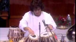Ustad Zakir Hussain - Tintal Tabla Solo - Kolkotta, via YouTube.