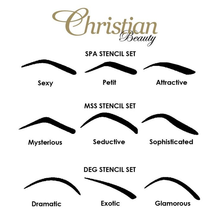 It is an image of Dramatic Eyebrow Stencils Printable
