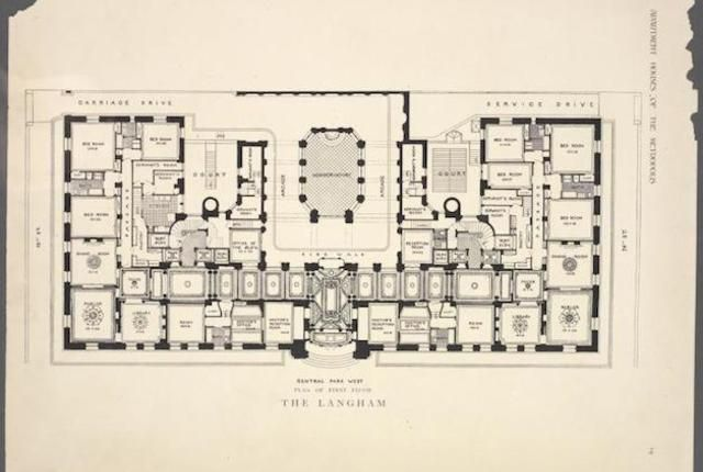 10 Elaborate Floor Plans From Pre Wwi Nyc Apartments Apartments Apartment Floor Plans And