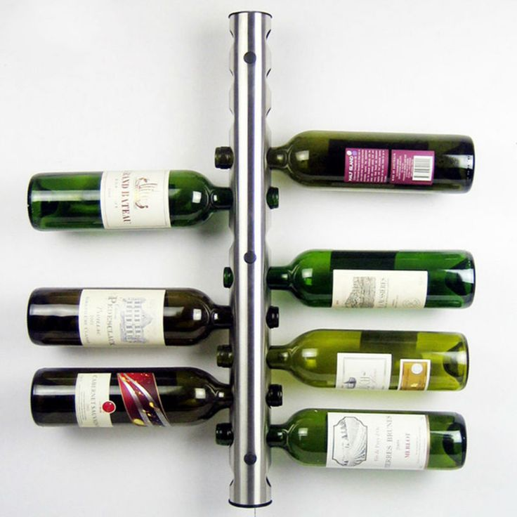 Hot Sales Creative Wine Rack Holders 8-12 Holes Home Bar Wall Grape Wine Bottle Display Stand Rack Suspension Storage Organizer