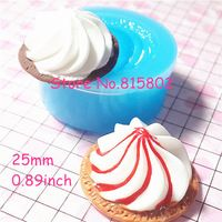 Free Shipping XYL004U Whipped Cream Mold Frosting Silicone Flexible Mold - Cupcake Fimo Polymer Clay Decoden Resin Wax