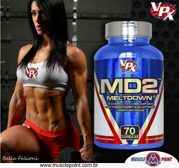 MD2 Meltdown da #VPX é um poderoso queimador de gordura, desenvolvido para quem deseja aumentar o rendimento do treino e, com isso, PerderPeso e ganhar #DefinicaoMuscular. #MusclePoint #SuplementoAlimentar #Suplementacao #Termogenico