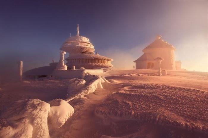Alpes  Castillos de hielo