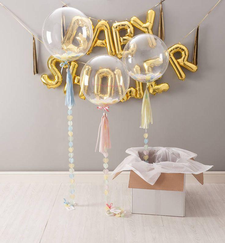 baby shower confetti balloon by bubblegum balloons   notonthehighstreet.com