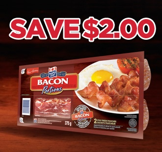 Canadians! Get your #coupon while you still can and save on your next purchase of Maple Leaf #Bacon Portions. Hurry, quantities are limited!