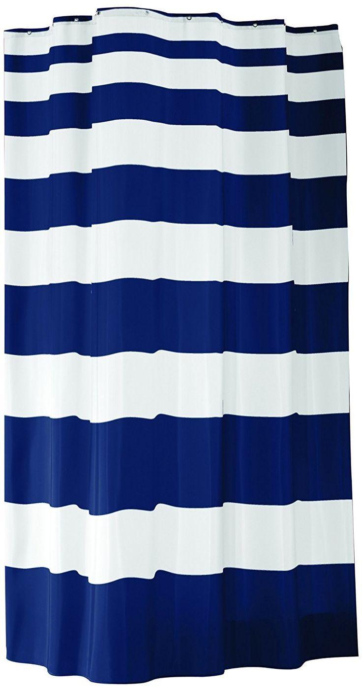Nautica palmetto bay stripe shower curtain from beddingstyle com - Nautica Shower Curtain