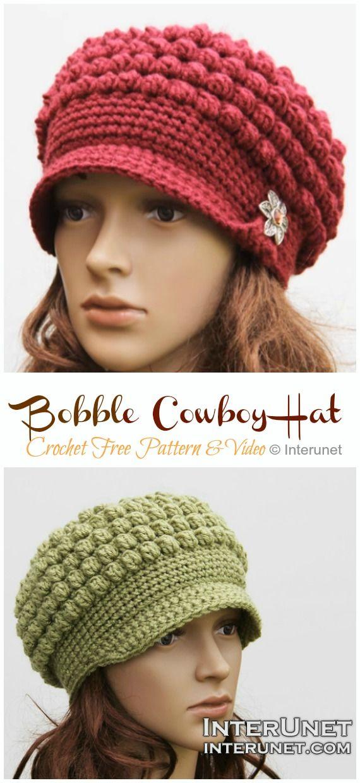 Bobble Cowboy Hat Free Crochet Pattern [Video] – Crochet and Knitting