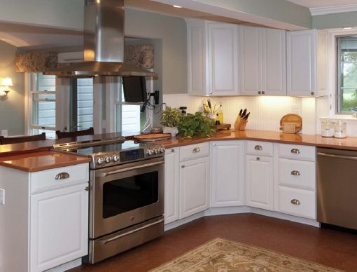 small kitchen with pass through small kitchen with the range and hood in the bar - Kitchen Pass Through