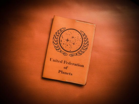 "Passport cover ""Citizen of the United Federation of Planet, from ""Star trek"" universe"""
