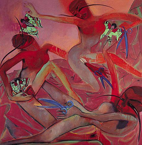 Collection Online | Francesco Clemente. Scissors and Butterflies. 1999 - Guggenheim Museum