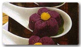 Resep Kue Bunga Ubi Ungu   Resep Masakan Dunia Sweet Purple Flower Cake