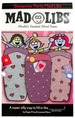 miss these!  sleepover party mad libs