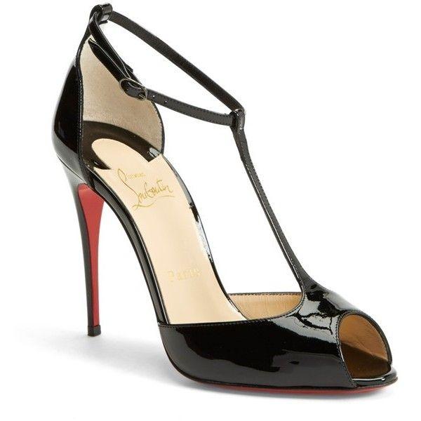 Christian Louboutin \u0026#39;Se?ora\u0026#39; T-Strap Open Toe Pump, 4\u0026quot; heel ($875 ...