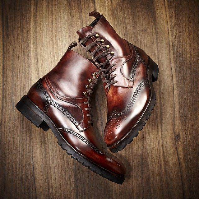 "Our sleek ""Reim"" boots by Harris. Made exclusively for DAVIDS."