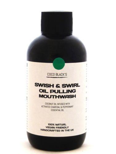 Suministro de 10 días de aceite de coco tirando con carbón activado & Aceite de menta