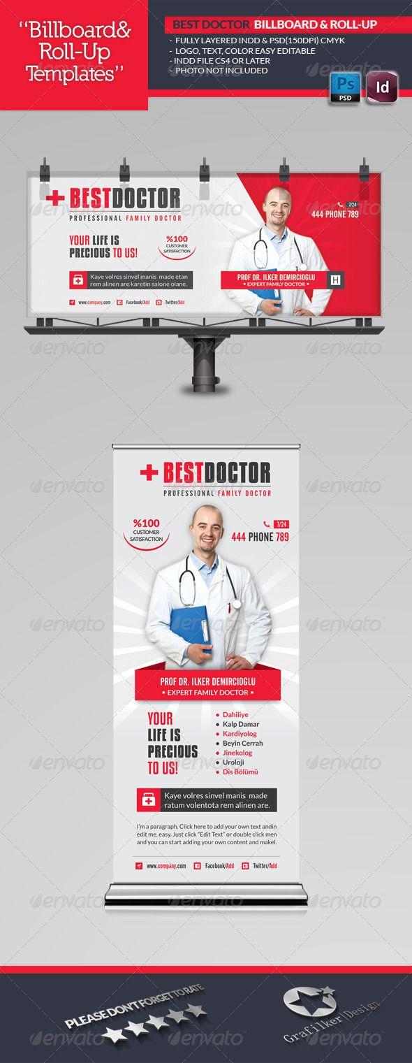 Best Doctor Billboard Roll-Up Template #design Download: http://graphicriver.net/item/best-doctor-billboard-rollup-template/6768563?ref=ksioks