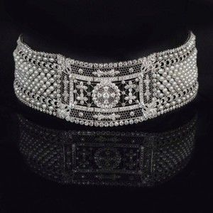 Elegant seed pearl and diamond choker necklace by Black, Starr & Frost by BLACK STARR AND FROST : The British Antique Dealers' Association