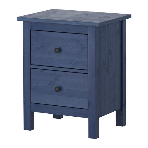 HEMNES Chest with 2 drawers IKEA Made of solid wood, which is a durable and warm natural material. The drawer insert is perfect for small things.