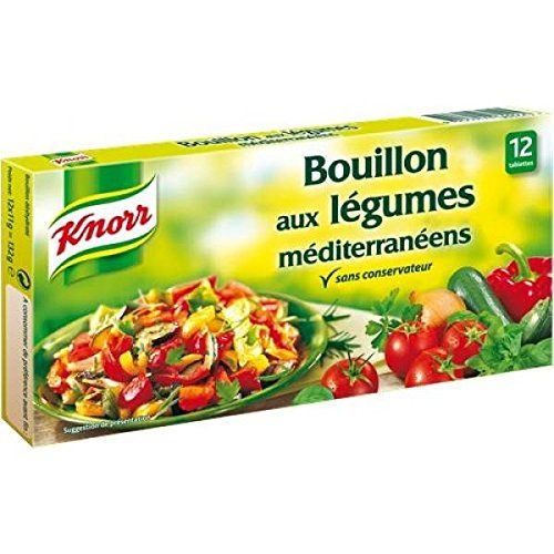 Knorr – bouillon aux légumes méditérranéens 12 tablettes – 132g: Composition / Ingrédients : sel, exhausteur de got : glutamate de sodium,…