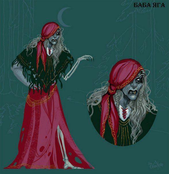 Персонаж славянской мифологии, наделённый магической силой. Является проводником в потусторонний мир, поэтому одна нога у неё костяная - чтобы стоять в мире мёртвых.