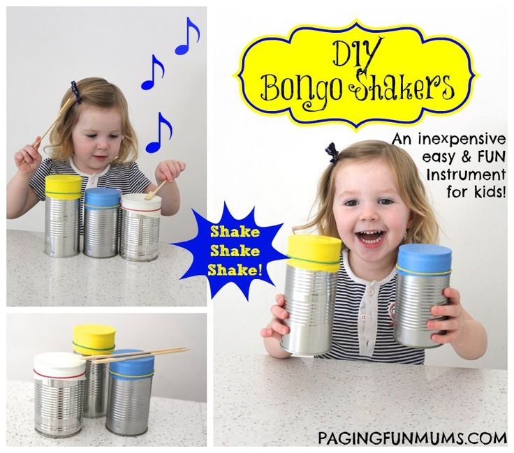 DIY 'Bongo Shakers'! A great Musical Instrument for Kids!